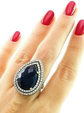 STERLING 925 SILVER SIZE 7 ONYX RING TURKISH HANDMADE INSPIRED JEWELRY R2515