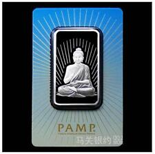 PAMP 1 Oz Silver (UNC) 瑞士PAMP佛祖.如来佛银条PROOF 1盎司 原厂原封 意大利手工制作