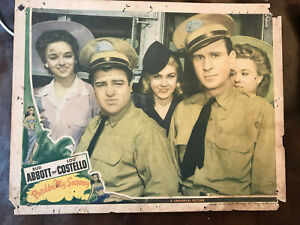 "Pardon My Sarong 1942 Universal 11x14"" comedy lobby card Abbott and Costello"