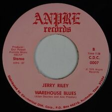 """JERRY RILEY: Warehouse Blues / Bugs USA ANDRE 7"""" Obscure Country 45"""