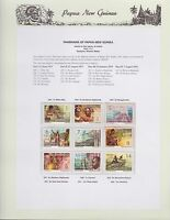 1973-1974 PNG PAPUA NEW GUINEA Panorama STAMP SET K-431