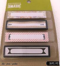 New K&Company SMASH BOOK BINDER CLIPS Embellishment 18 PCS ~ $2.50 MAX Shipping
