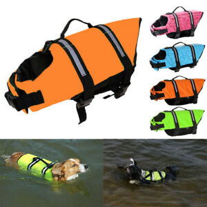 Pet Swimming Safety Vest Dog Puppy Life Jacket Preserver With Handle Clothes NEW