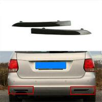Pair Black Rear Reflector Marker Light Fit For VW Jetta Sportwagen 2009-2014