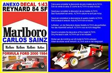 ANEXO DECAL 1/43 REYNARD 84 SF FORMULA FORD 1984 CARLOS SAINZ  (01)