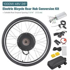 "48V 26"" Rear Wheel Electric Bicycle Motor Conversion Kit 1000W EBike Cycling Hub"