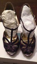 Atmosphere Women's Purple Snakeskin Size 3/36 Peep Toe Shoe