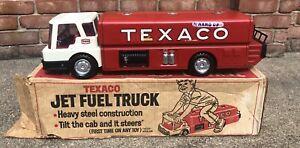 Texaco Jet Fuel Delivery Tanker Toy Truck Metal 1960's Park Plastics, Linden NJ