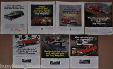 1966-67 JEEP WAGONEER advertisements x7, Kaiser Jeep Corp 4WD Jeep station wagon