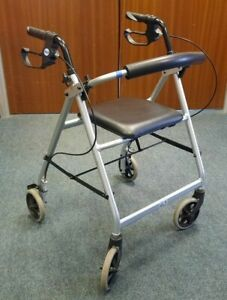 """Days"" Lightweight Mobility Walker/Rollator + Padded Seat - VGC Lot 2(A-B/04/CC)"