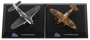 Spitfire MK VIII/IX & SBD Dauntless 1:144 scale WWII Aircraft Two Pack