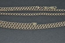 """9ct gold long 30"""" 3mm curb chain"""