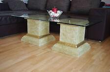 Glastisch Wohnzimmertisch Couchtisch Marmor Römer Tisch Höhe: 45cm 130cmx70cm
