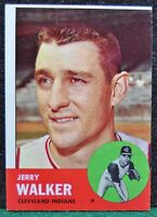 1963 Topps Baseball Card, #413 Jerry Walker, Cleveland Indians - EX