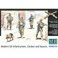 MODERN US INFANTRYMEN. CORDON AND SEARCH 4 FIGURES 1/35 MASTER BOX 35154 DE