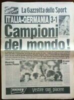 BELLISSIMA ORIGINALE GAZZETTA DELLO SPORT 12 LUGLIO 1982 CAMPIONI DEL MONDO