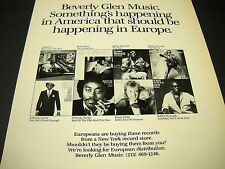 Beverly Glen 1986 Promo Poster Ad Anita Baker Chapter 8 Bobby Womack J. Taylor
