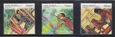MALAYSIA 2010 LIFESTYLES OF ABORIGINAL PEOPLE COMP. SET OF 3 STAMPS IN MINT MNH