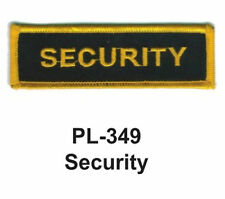 """NEW SECURITY EMBROIDERED PATCHES 4"""""""