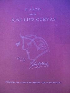 JOSE LUIS CUEVAS. MEXICAN ART BOOK