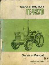Iseki Tractor TE4270 Workshop Service Manual