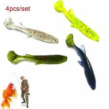4pcs Silicone Tackle Hook Swim Bait Real Soft Sinking Fishing Lures 7cm/5.5g