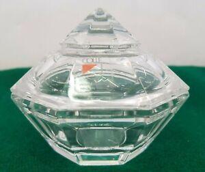 Scatola Cristallo Cristallerie COLLE Italia Piramide Rara cm 8