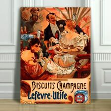 Amandines Provence Biscuits Cookies Pernot French Vintage Poster Repro FREE S//H