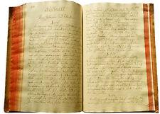 1799 Manuscript Treatise - NEUROLOGY - NERVE SYSTEM - BRAIN - Early Neuroscience