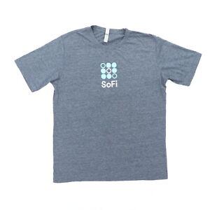 "SoFi Personal Finance Adult Large 42"" T Shirt Gray Polyester Cotton Logo"