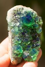 WOW !  COLOR CHANGE BLUE PURPLE AND GREEN FLUORITE SPECIMEN ENGLAND