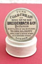 VINTAGE c1890s BREIDENBACH & Co LONDON COLD CREAM ROSES POTLID POT LID + BASE