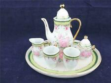More details for the regal porcelain collection vintage rose 6-piece miniature coffee set