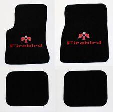 NEW! 1967-1969 Pontiac Firebird Floor Mats Black Carpet Embroidered Red Bird 4pc
