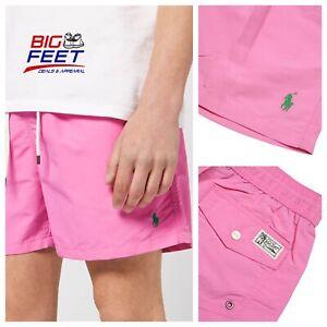Rare Size 4XB Polo Ralph Lauren USA Pink Shorts Beach Pool Swim Trunks w/Pockets