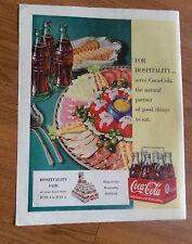 1950 Coke Coca-Cola Soda Pop Ad 1950 Chesterfield Cigarette Ad Hogan & Roman