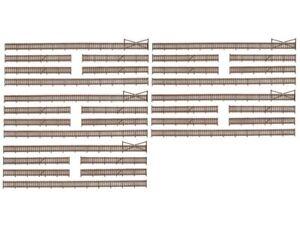 Kibri 37225 Zaun mit Toren 230 cm Spur N Bausatz