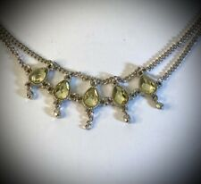 Yellow Glass Vintage Anklet