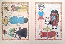 Japanese Doll w/ Oriental Clothes Mag.Paper Doll,1987, By Loraine Morris, Uncut