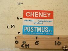 STICKER,DECAL CHENEY POSTMUS BV INTER-MOTO PRODUCTS IMPORT HOLLAND GIETEN