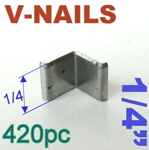 "420 pc V-Nails V-Nail 1/4"" (7mm) for Soft Wood Type: UNI Picture Framing S"