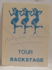 Pointer Sisters - Original Concert Tour Cloth Backstage Pass *Last One*