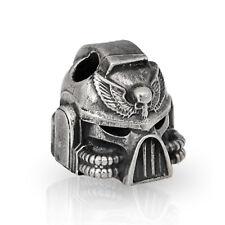 Nice EDC Bead Custom Helmet with Skull Head Paracord Lanyard Beads Nickel Silver
