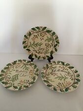 Capriware Christmas Plates Set Of Three