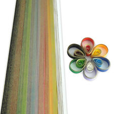 200 quilling self adhesive golden edge paper strips in assorted colours - 5mm