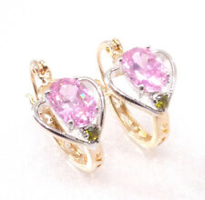 fashion1uk 18k PLACCATO ORO GIALLO ROSA ciondolo a cuore zircone cubico