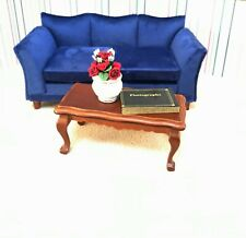 Dollhouse Miniature Wooden Mahogany Victorian Coffee Table  (ONLY)