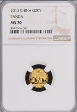 NGC MS70 2013 China Panda 1/20oz Gold Coin