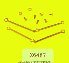 hornby oo spares x6487 1x set coupling rods/screws for b1 class loco