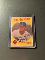 1959 Topps #387 Don Drysdale - Los Angeles Dodgers EX-MT